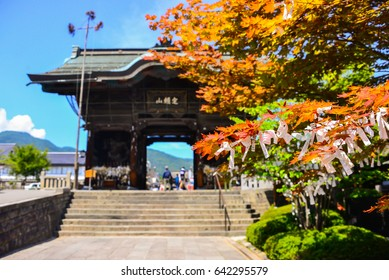 Nagano, Japan - Aug 8, 2016 - Zenkoji Temple in is one of the most important and popular temples in Japan. It stores the first Buddhist statue ever to be brought into Japan
