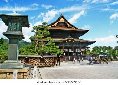 Nagano (Nagano-shi), Nagano Prefecture, Chubu (Koshin'etsu) region, Japan - September 10, 2009 - Main Hall of Zenko-ji temple