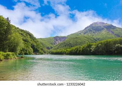 Nagano Prefecture ,Japan - May 2th ,2018 : Kamikochi in Japan