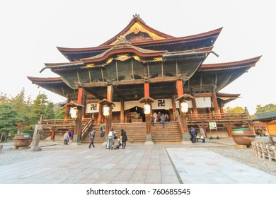 NAGANO,JAPAN - November 5, 2017:Zenkoji Temple   is one of the most famous and popular temples in Nagano Prefecture,Japan.