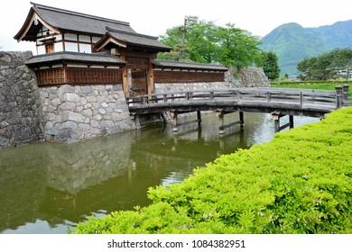 NAGANO,JAPAN-APR 30,2018:Entrance of Matsushiro Castle is located Matsushiro town, Nagano city, Japan.