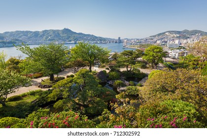 NAGASAKI, JAPAN - APRIL 27, 2012 : Glover Garden, a popular tourist attraction with panoramic views across Nagasaki Harbour.