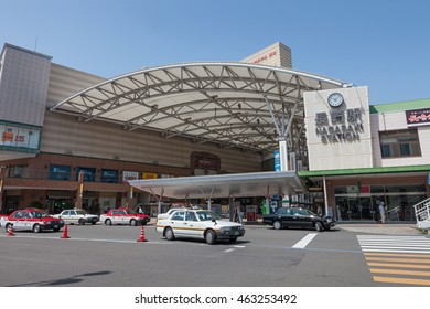 NAGASAKI,JAPAN - MAY 30,2014 : Nagasaki train station. This station is operated by Kyushu railway company or JR Kyushu.