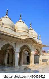 Nagina Masjid (Gem Mosque) in Agra Fort, Uttar Pradesh, India. It was build in 1635 by Shah Jahan for the ladies of his harem and made entirely of marble