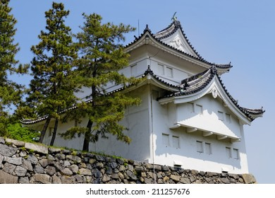 """Nagoya castle atop with golden tiger fish head pair called """"King Cha Chi"""", Japan"""