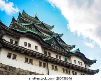 Nagoya castle with blue sky