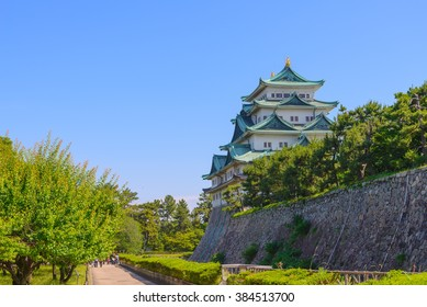 Nagoya Castle on Sunny Day