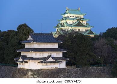 Nagoya Castle at sunset, Japan