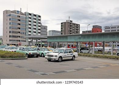Nagoya City , Japan - May 2th ,2018 :  Cityscape at nagoya station in Japan
