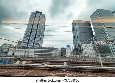 Nagoya cityscape from central station, Japan.