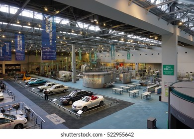 NAGOYA, JAPAN -11 OCT 2016- The Toyota Commemorative Museum of Industry and Technology is located in Nagoya on the site of the former Toyota Headquarters Plant.
