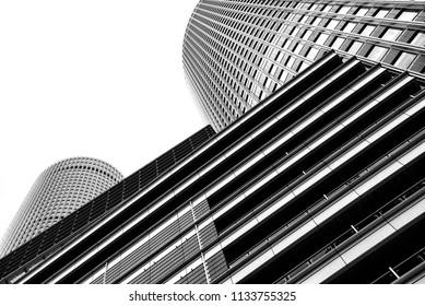 NAGOYA, JAPAN - 23 JULY, 2016; The high rise office buildings above Nagoya Station.