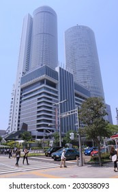 NAGOYA JAPAN - 31 MAY, 2014: JR Central towers. JR Central towers are located at Nagoya Station and the world�s largest train station complex by floor area.