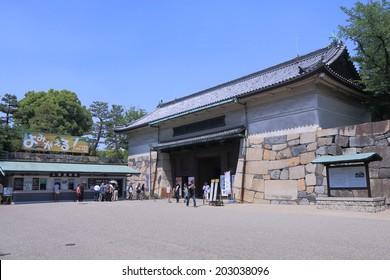 NAGOYA JAPAN - 31 MAY, 2014:Nagoya Castle entrance. Nagoya Castle is a Japanese castle located in Nagoya reconstructed in 1959 after the World War 3