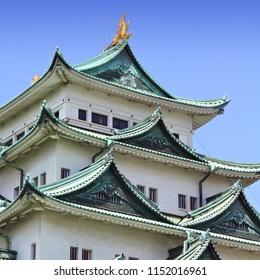 Nagoya, Japan - city in the region of Chubu in Aichi prefecture. Nagoya-jo castle.