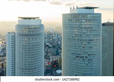 Nagoya, Japan - February 17, 2019: View of Nagoya city downtown in Nagoya, Japan.