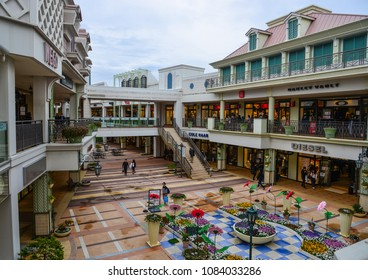 Nagoya, Japan - Mar 16, 2018. View of Mitsui Oulet Park in Nagoya, Japan. This is the biggest and best outlet mall shopping in Japan.