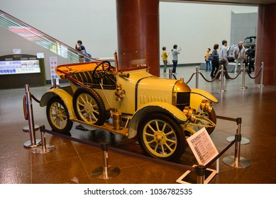 Nagoya, Japan - March 29, 2015 : Morris Oxford 1913 displayed at Toyota Automobile Museum