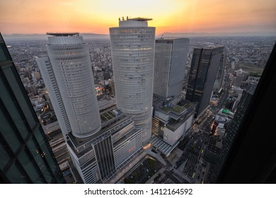Nagoya, Japan – May 11, 2019: The JR Central Towers and Skyscrapers in the city of Nagoya, Japan.