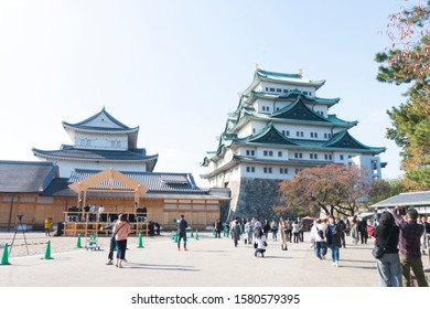 Nagoya, Japan November 16,2019 : Nagoya Castle famous landmark by the Shogun, Tokugawa Ieyasu