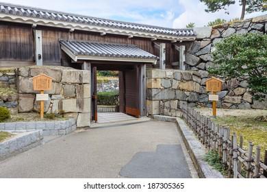 NAGOYA, JAPAN - NOVEMBER 21: Nagoya Castle in Nagoya, Japan on November 21, 2013. Fushimon Gate always shut in the Edo Period, destroyed in WWII and rebuilt in 1978