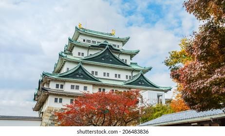 NAGOYA, JAPAN - NOVEMBER 21: Nagoya Castle in Nagoya, Japan on November 21, 2013. Built by Ieyasu Tokugawa between 1610 - 1612, burnt down in WWII and reconstructed in 1957