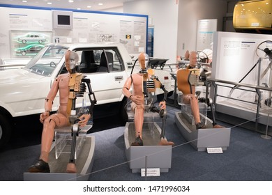 Nagoya, Japan:  October 22, 2018:  Interior of the Toyota Commemorative Museum of Industry and Technology in Nagoya, Japan.  The Toyota museum was established in 1994.