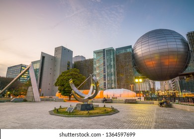 NAGOYA - March 20, 2019 : The Nagoya City Science Museum located in Sakae, Nagoya  Japan. The museum houses the second largest planetarium in the world
