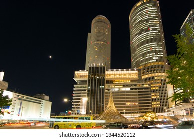 NAGOYA - NOVEMBER 14 2018: JR Central Towers at Nagoya station in Nagoya,Japan
