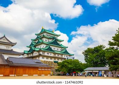 Nagoya,Japan - July 31,2018 - Nagoya castle in Nagoya city,Aichi,Japan.Nagoya Castle built by Tokugawa Ieyasu in 1612.