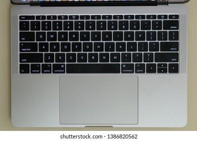 Nagpur, Maharashtra India - May 2 2019 : MacBook keyboard background