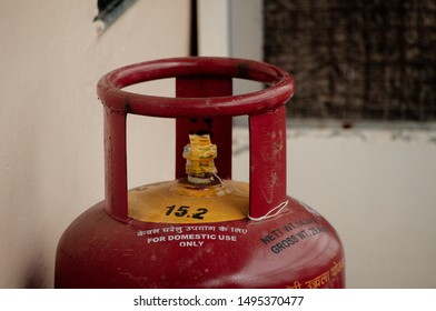 Nagpur, Maharashtra/India - August 05 2019 : seal pack gas cylinder