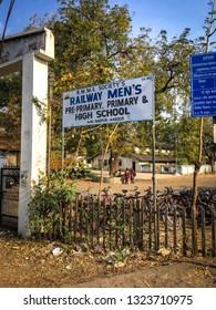 Nagpur, Maharashtra/India - February 24 2019 : railway men's high school ajni nagpur