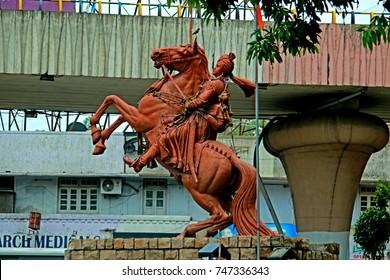 NAGPUR-INDIA-JUNE 23 : Statue of Lord Ashoka the Great, June 23, 2015 Nagpur Province, India