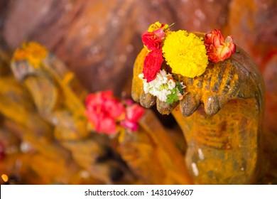 Nagula Chavithi, a festival to worship Nag Devatas. Pamula Putta. Snake Hole. Snake House red colored mud or soil.