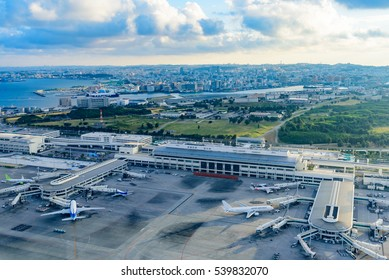 Naha airport in Okinawa,Japan