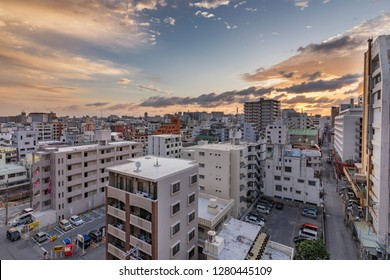 Naha, Okinawa prefecture / Japan - February 28th 2018: Cityscape of Naha, capital of Okinawa Prefecture, Japan