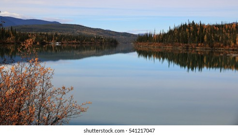 Nahanni National Park Reserve in the northwest Territories of Canada - Nahanni River upstream of the Virginia Falls - the water plain landing area