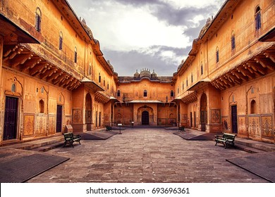 Nahargarh Fort, Rajasthan, India, December 2016. A view of Nahargarh Fort interior, Rajasthan, India.