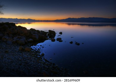 Nahuel Huapi lake in Brariloche, Argentina after sunset