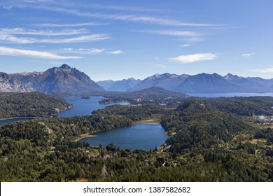 Nahuel Huapi lake view from Campanario mountain in Bariloche, Patagonia Argentina
