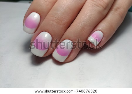 Nail Art Design By Airbrush Stock Photo Edit Now 740876320
