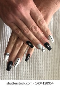 Nail art finger nails French tip