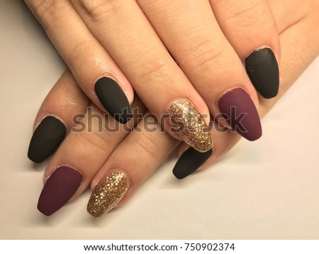 Nail Art Manicure Wallpaper Fashion Design Stock Photo Edit Now