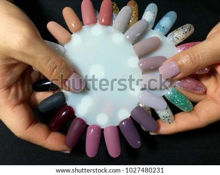 Nail Artist Stylish Manicure Nail Art Stock Photo Edit Now