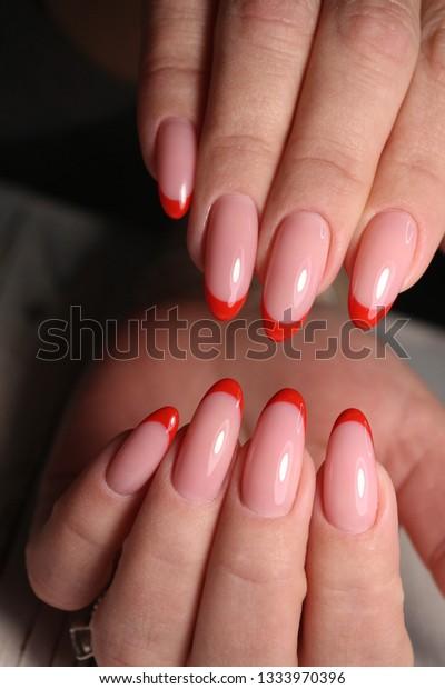 Nail Polish Art Manicure Modern Style Stock Photo (Edit Now) 1333970396