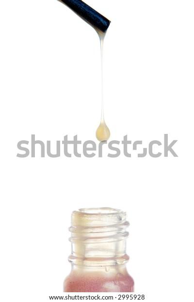 Nail polish dripping from brush