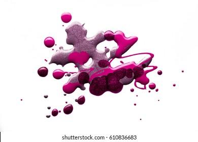 Nail polish multicolored blur