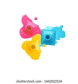 Nail Polish with splash of bright colours
