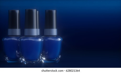 nail varnish 3d illustration